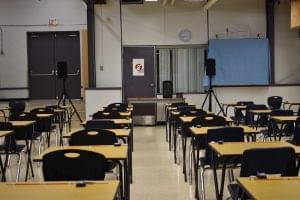 Main testing room in Frank Hurt Secondary School