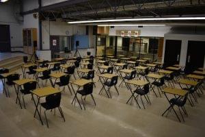Ielts main testing room in Frank Hurt Secondary School